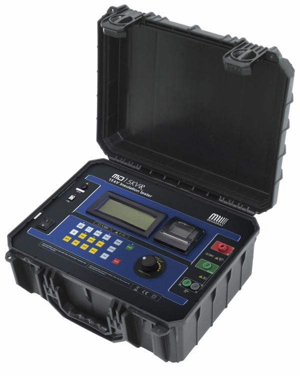 MD-15KVr  15 kV Insulation Tester - 15 TΩ - Memory, Capacitance, RT Clock, SVT, Remote Control