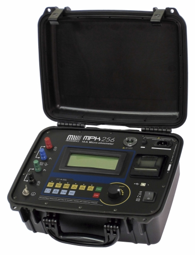 MPK-256 10 A digital Micro-ohmmeter - 1 mA up to 10 A, 1 μΩ res. - Printer, Remote control