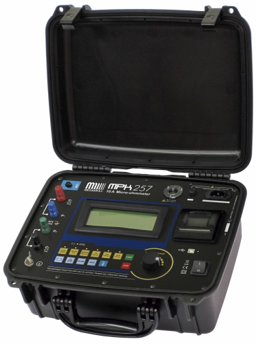 MPK-257 10 A digital Micro-ohmmeter - 1 mA up to 10 A, 0.1 μΩ res. - Printer, Remote control, Temp. Comp.