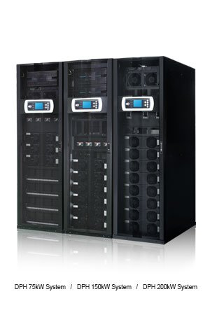 Delta DPH Series Modular UPS 150kVA/150kW with 25kVA/25kW Power Modules