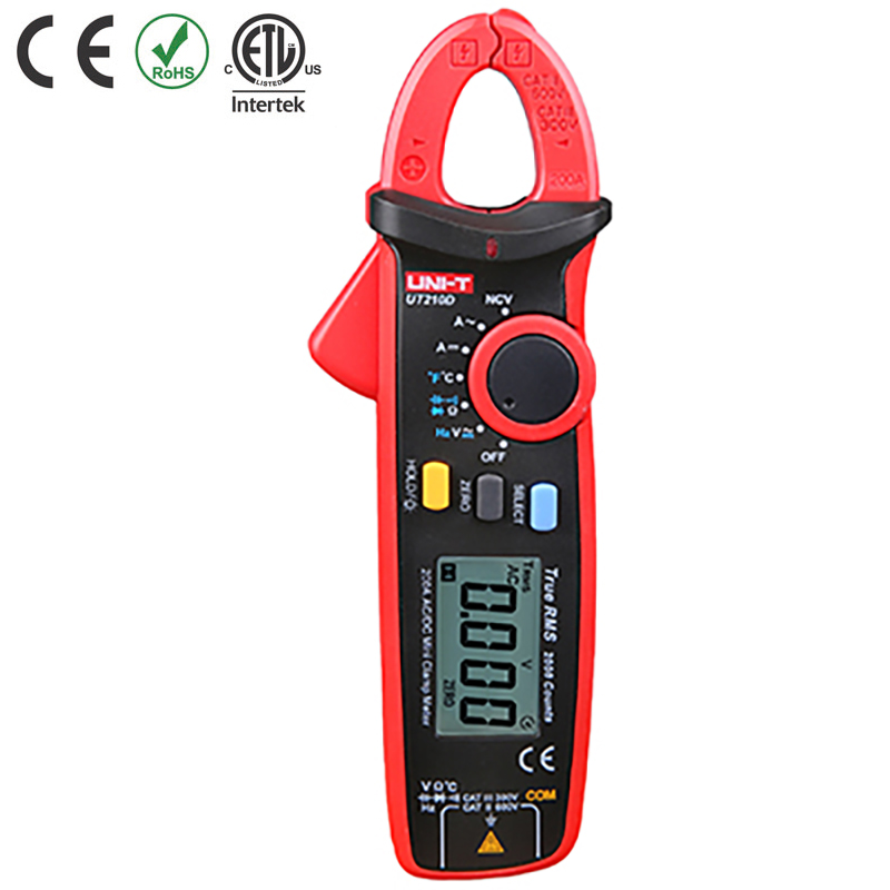 UT210D TESTER CLAMP MINI 20/200A AC/DC VOLTS/RES CATIII 300V