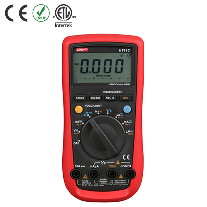 UT61C MULTIMETER DIGITAL AC/DC V/A CATIV 600V