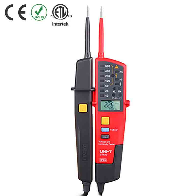 UT18C TESTER VOLTAGE/CONT/LED/LCD CAT IV 600V IP65