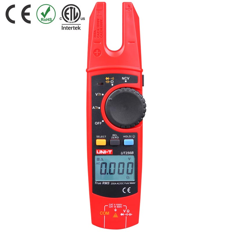 UT256B TESTER CLAMP OPEN JAW DIGITAL 200A AC/DC AC/DCV CAT III 600V