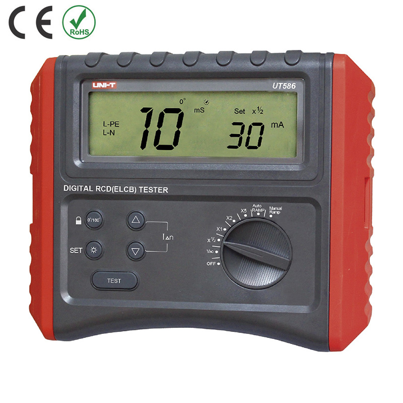 UT586 TESTER RCD DIGITAL WITH BATTERY BACKUP