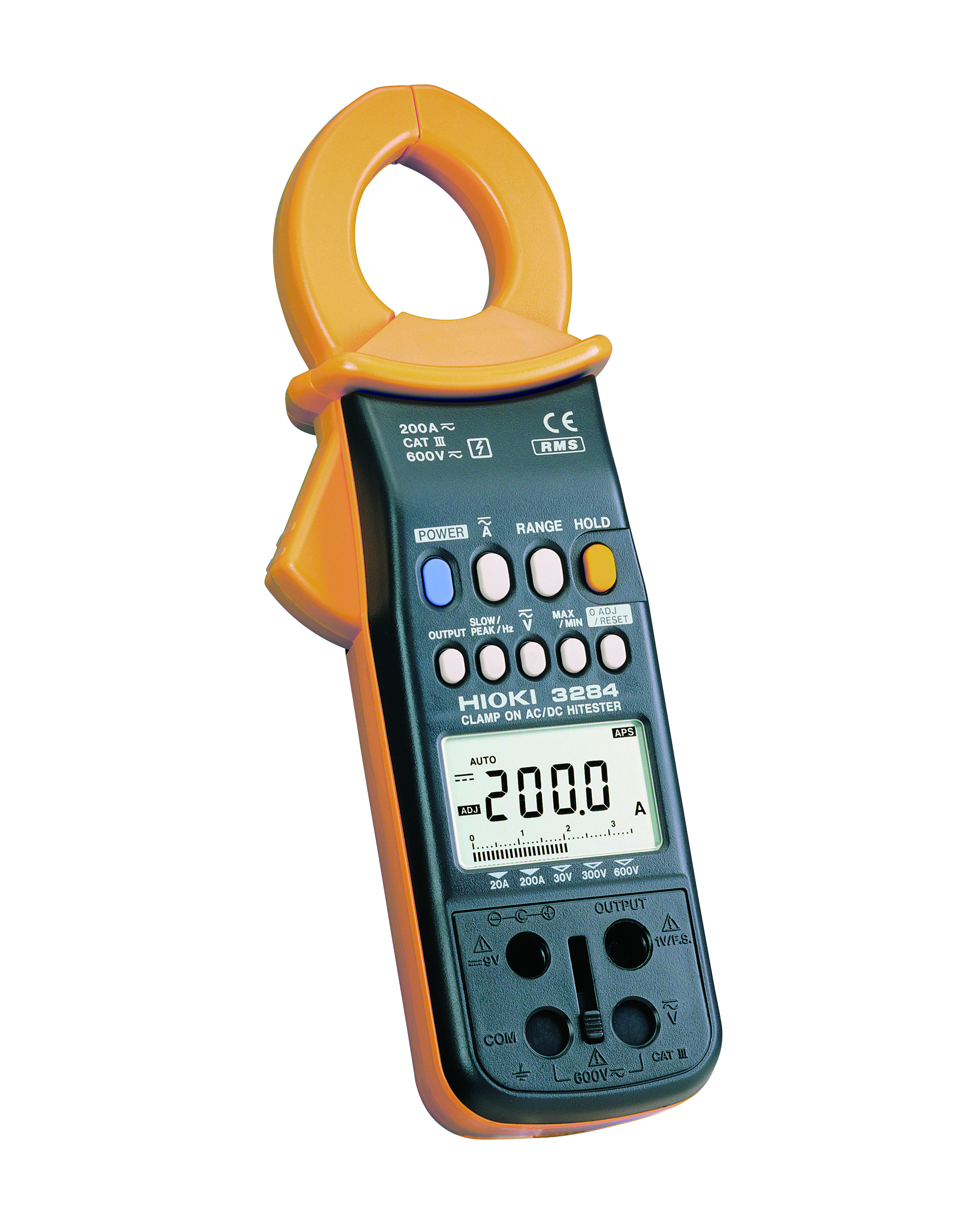 3284 Clamp Tester, 200A AC/DC, TRMS, CAT III 600V