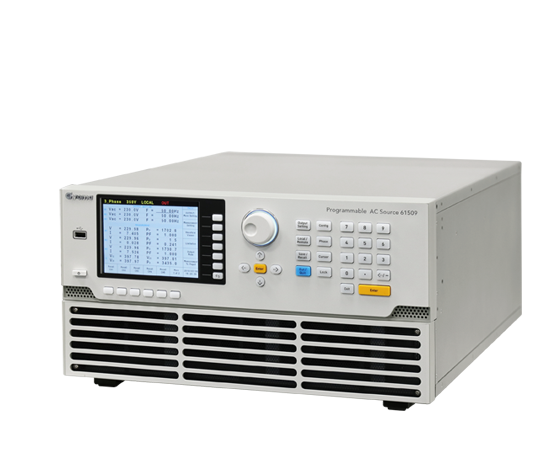 61500 Series Single-phase or three-phase output selectable AC Power supply