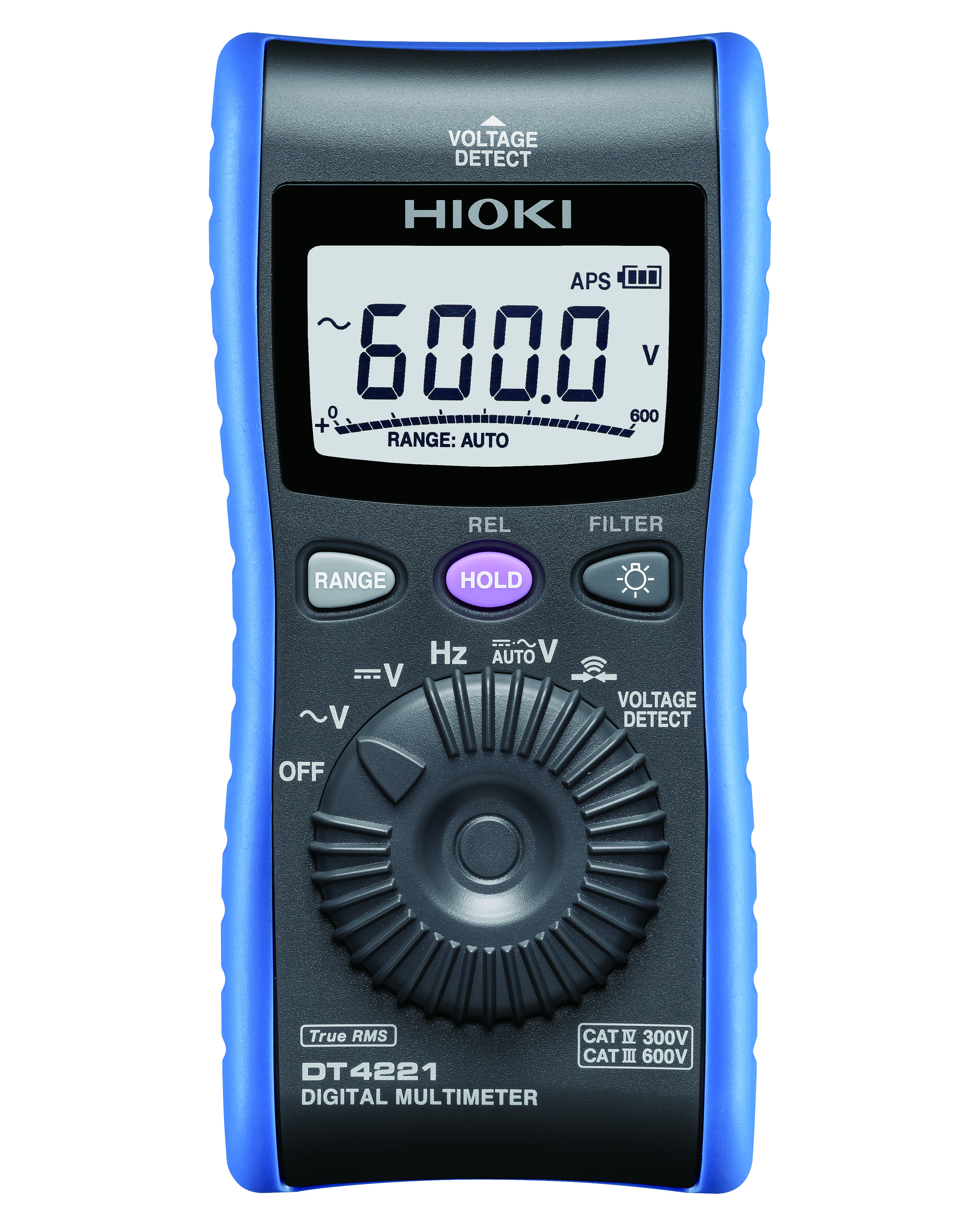 DT4221 MULTIMETER DIGITAL V/Hz TRMS CATIV 600V