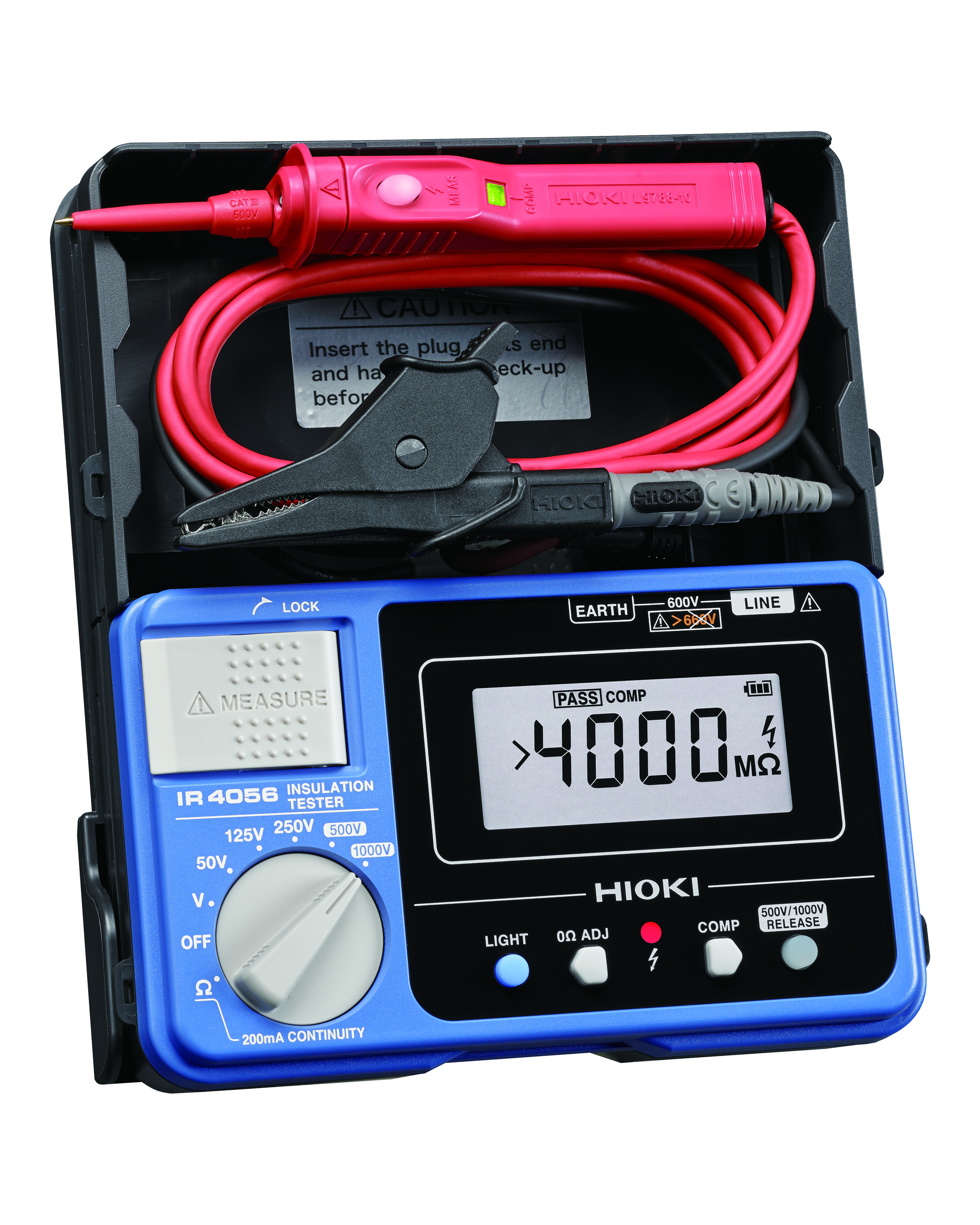 TESTER INSULATION DIGITAL 5 RANGE TO 1000V CAT III 600V