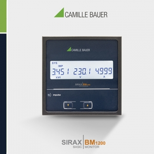 Camille Bauer SIRAX BM1200 Multifinction Programmable Power Monitor