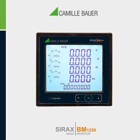 Camille Bauer SIRAX BM1250 Multifunction Programmable Power Monitor