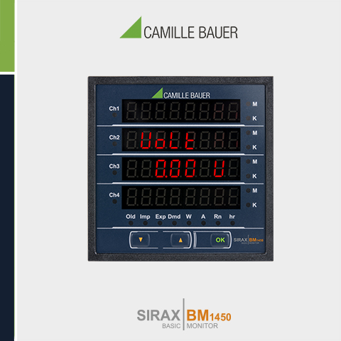 Camille Bauer SIRAX BM1450 Multifunction Programmable DC Power Monitor
