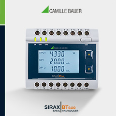 Camille Bauer SIRAX BT5400 Active, Apparent, Reactive Power, Phase Angle and Power Factor Transducer