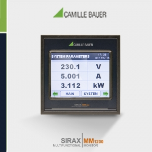 Camille Bauer SIRAX MM1200 Programmable Multifunction Panel Meter