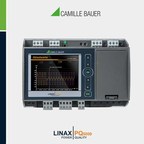 Camille Bauer LINAX PQ5000 Class A Fixed Mount Power Quality Analyser