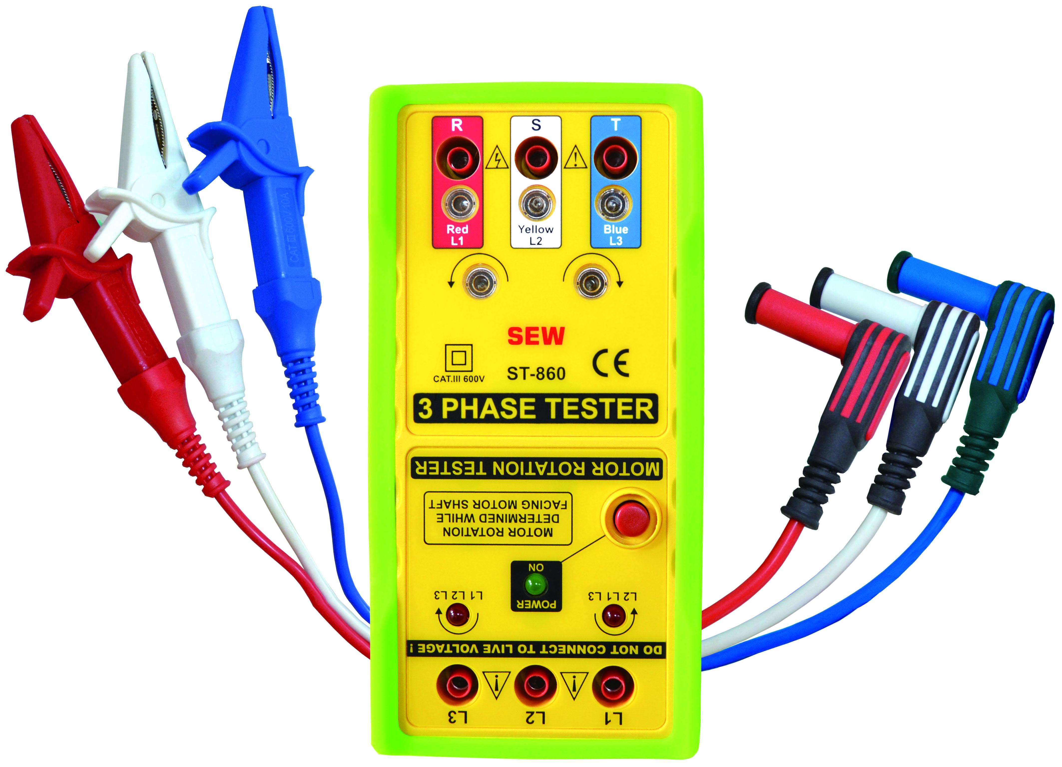 ST-860 ST-860 3 Phase Tester & Motor Rotation Tester CATIII 600V