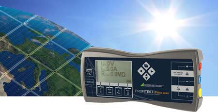 Gossen Metrawatt PROFITEST PVsun memo PV module and string tester with bidirectional interface and memory