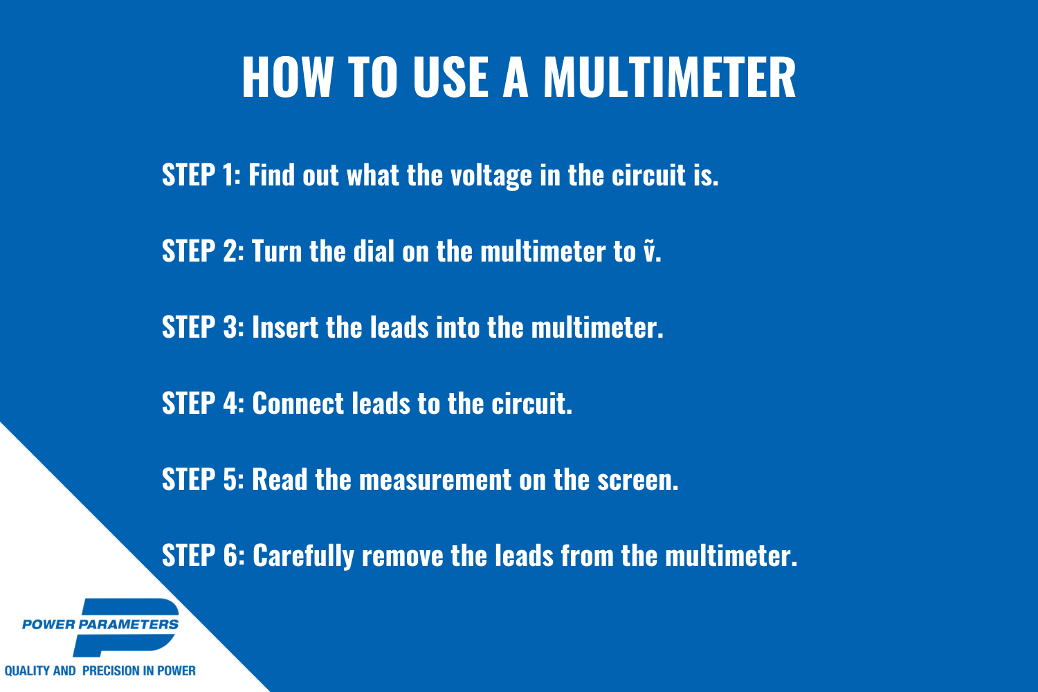 how to use a multimeter infographic