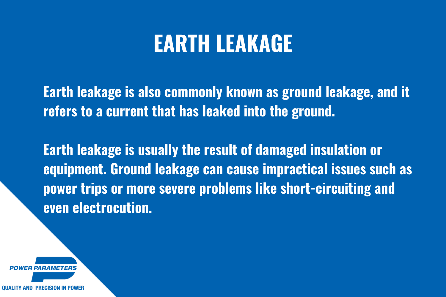 How does an earth leakage tester work infographic