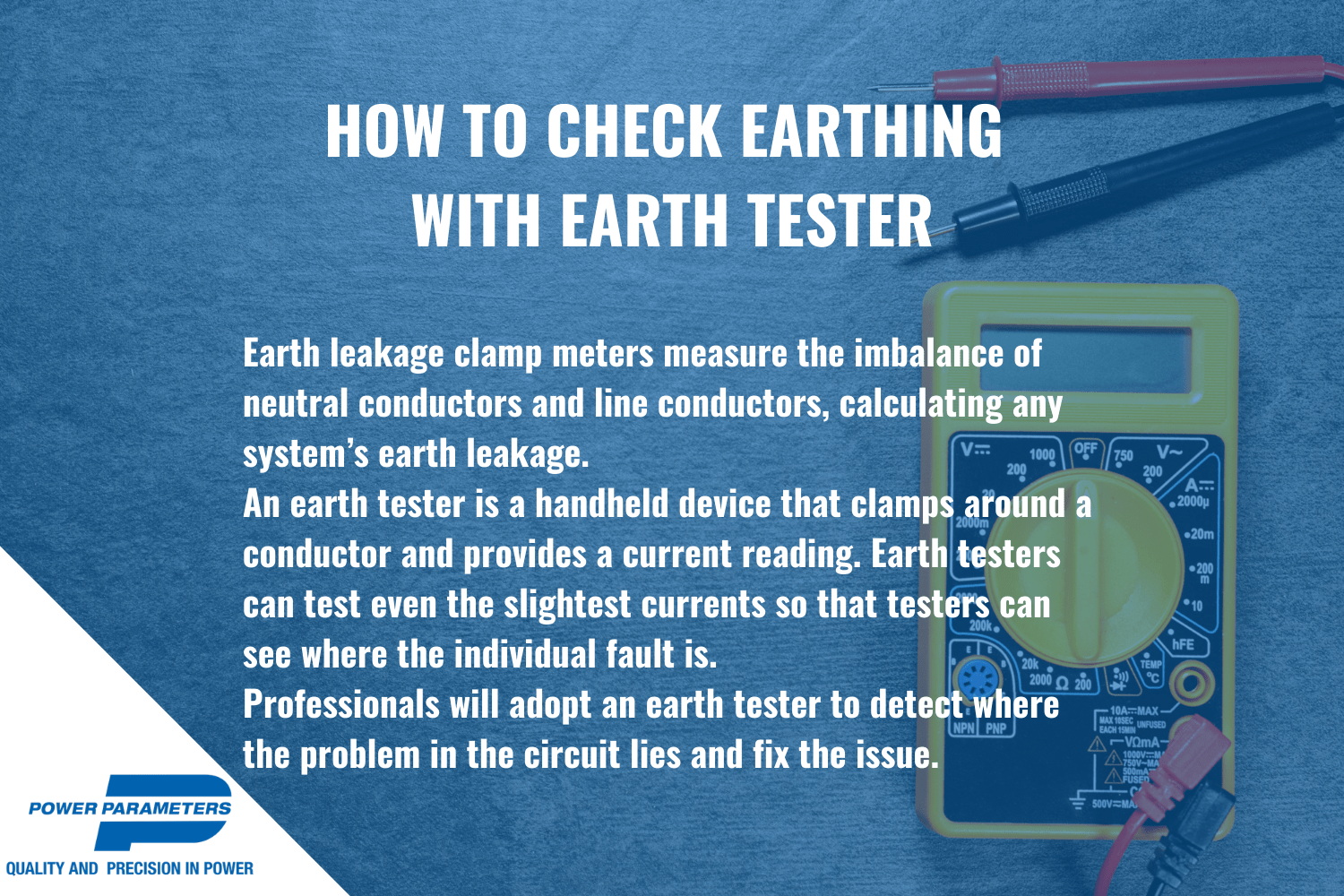 how to check earthing infographic